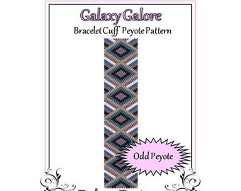 Bead Pattern Peyote(Bracelet Cuff)-Galaxy Galore