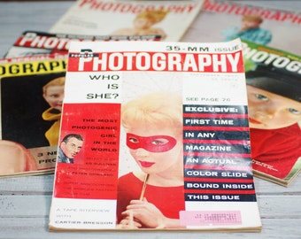 1950s photography magazine bundle
