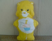 Vintage Care Bear Birthday Bear Cloth Doll Pillow