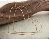 Heart Earrings Heart Jewelry Wire Heart Valentine Earrings Valentine Jewelry Valentine Gift Heart Shaped Earrings Sweetheart Earrings 043