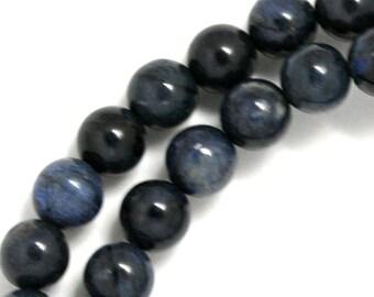 Dumortierite Beads - 8mm Round - Full Strand