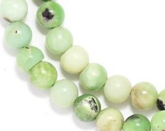 Chinese Chrysoprase Beads - 6mm Round - Half Strand
