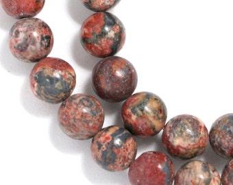 Leopardskin Jasper Beads - 8mm Round - Full Strand
