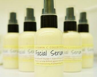 Natural Vitamin C Facial Serum - 14 natural ingredients, beauty, organic, vegan, skincare, luxury, face lotion, face cream, treatment