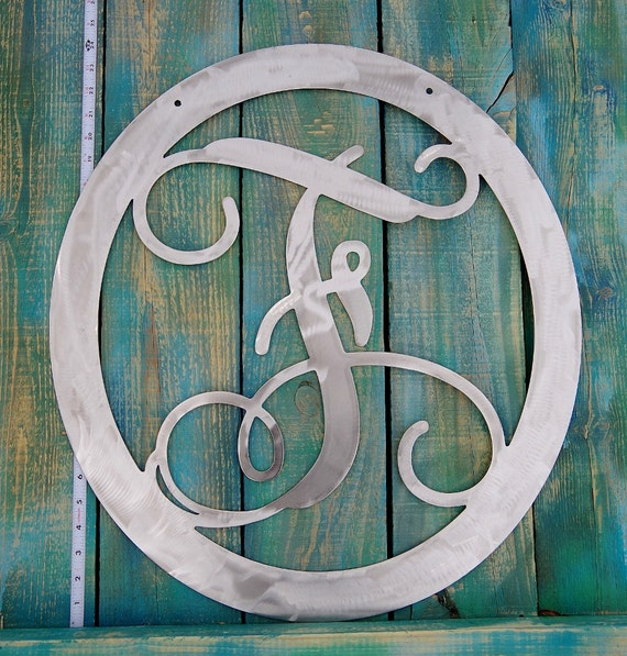 Metal Wall Decor Clearance : Large metal clearance letter f door hanger by