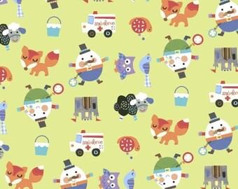 Humpty Dumpty-Mother Goose Tales-Nursery Fabric-Children's Fabric-Jill McDonald-Windham Fabrics-One Yard