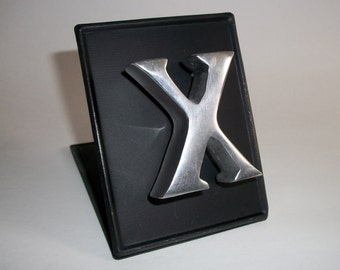 "Stainless Steel Refrigerator Magnet Letter ""X"" Monogram Words For Your Fridge"