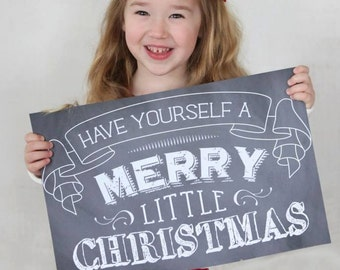 printable chalkboard christmas sign - instant download