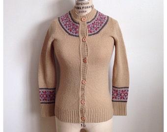 Vintage EATON wool winter cardigan