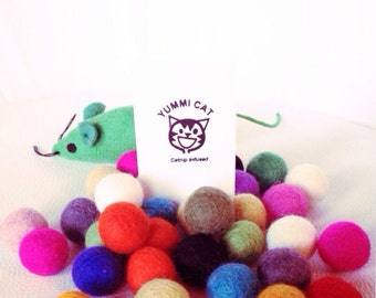 Catnip Infused Felt Balls Cat Toy Pets Party Decorations