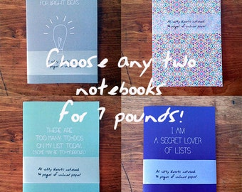 Two Witty Hearts notebooks offer