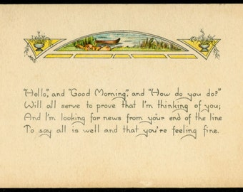 1924 Good Morning Greeting Postcard by The Prince Publishing Co.