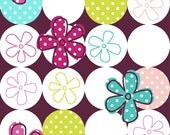 Dot Kitty - by Fabric Traditions - 1/2 yard - Tossed Floral Multi