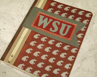 Cougs eastern WA university college theme covered composition blank journal notebook planner scrapbook smash book