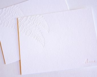 Personalized Kupukupu Fern Letterpress Stationery