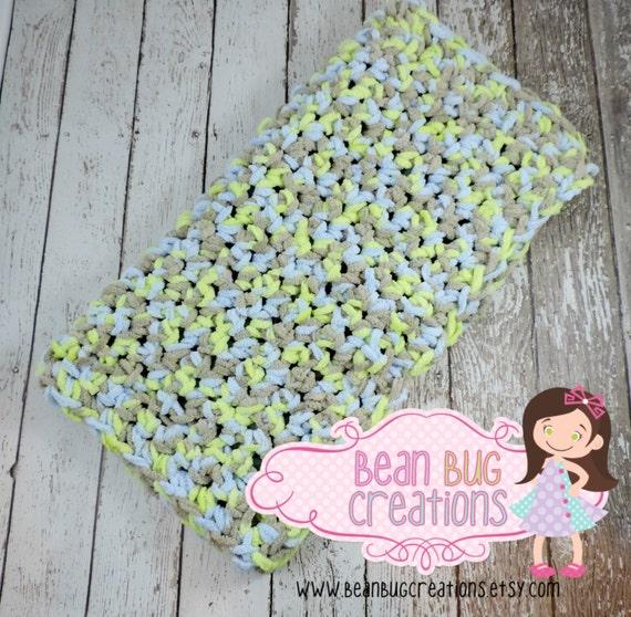 Crochet Chenille Baby Blanket Pattern : Super Soft Crochet Baby blanket / baby blanket / chunky
