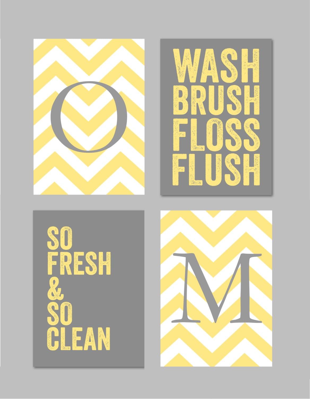 Yellow and gray bathroom art home decor prints you are my for Home decor yellow and gray
