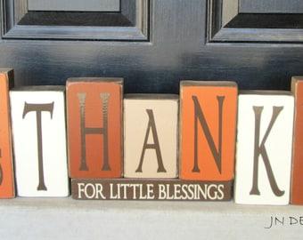 Thanksgiving blocks-Give Thanks for little Blessings
