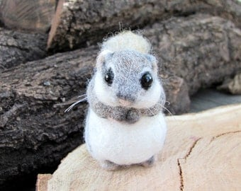 Needle felted dwarf flying squirrel