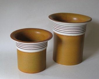 Gustavsberg Sweden E.M. Hannix stoneware pottery vintage vases vessels canisters