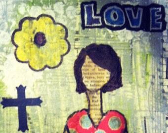 Mixed Media:  Love & Peace