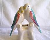 Bird Vase Lovebirds Planter Parrots Morton Pottery 1940s 1950s Home Decor