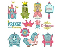 PRINCESS - Machine Applique Embroidery - Instant Digital Download