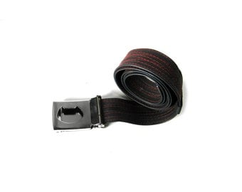 Faux Leather Bike Tube BOTTLE OPENER BELT with Forest Thread