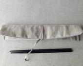 Chopstick case ( beige ) linen  cotton