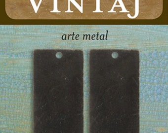 Vintaj Metal Stamping Blanks Rectangles 32mm Arte Metal Made in USA Rectangle Stamping Blanks