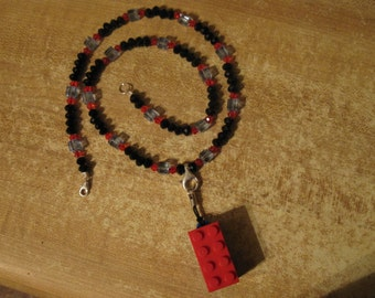 LEGO 16gb USB flash drive, necklace with glass beads