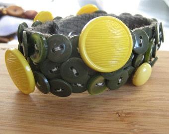 SALE Button Bracelet Cuff