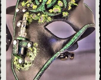 Leather half mask - BioHazard -
