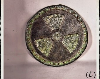 Leather patch - Radioactive - Free shipping