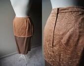 Vintage FRANK TIGNINO couture pencil Skirt - Size 12 - Plus