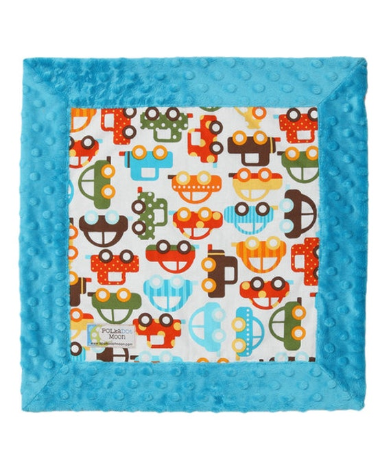 Baby Lovey Blanket- Cars Baby Blanket-Minky Baby Blanket-Minky Lovey-Lovey Blanket-Security Blanket- Minky Security Blanket