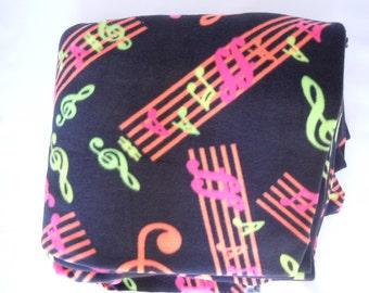 Neon Music Fleece Blanket - Extra Large