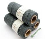 Grey Hemp Twine, Slate Grey 1mm Dyed Hemp Craft Cord