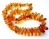 Baltic Amber Honey Necklace Calibrated Chunky 22.5″ 75.5 gram