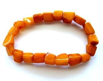 Baltic Amber Antique Butterscotch Bracelet Yolk Caramel 8″ 8.2 gram