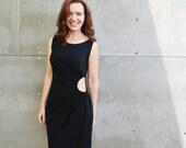 Little black dress, Peekaboo dress, Sleeveless dress, Unique little black dress, Evening dress, Knee length dress