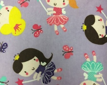 Purple Fairies -  FLANNEL - Fabric BTY