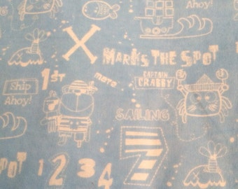 Pirates - X Marks the Spot - Flannel Fabric - BTY