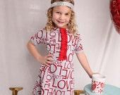 Girls valentines day dress, Red dress, baby girl dress
