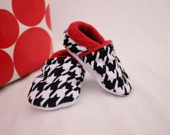 Christmas shoes, baby girl christmas, Baby boy Christmas, Houndstooth,