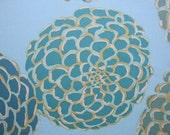 valori well's 15 yards of fabric, teal, aqua, saffron pom pom fabric