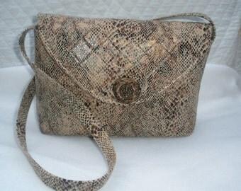 Faux Snakeskin shoulder bag