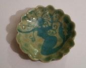 Little mermaid bedside table dish, soap dish, handmade, stoneware, ceramic