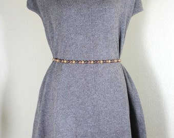 Vintage PRADA Milano Grey Stylish Top Blouse Mini Dress Medium Sz. 6 7 8