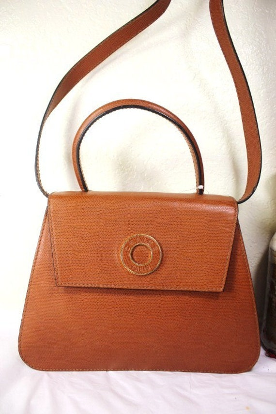 celine vintage leather hand bag